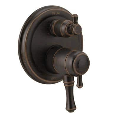 Cassidy 2-Handle Wall-Mount Valve Trim Kit with 6-Setting Integrated Diverter in Venetian Bronze (Valve Not Included)