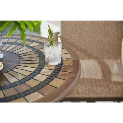 Beckham Steel Balcony Height Outdoor Dining Table