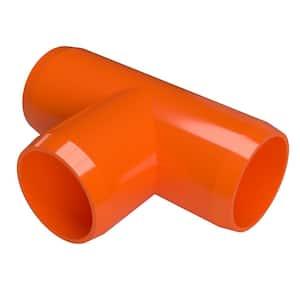 1 in. Furniture Grade PVC Tee in Orange (4-Pack)