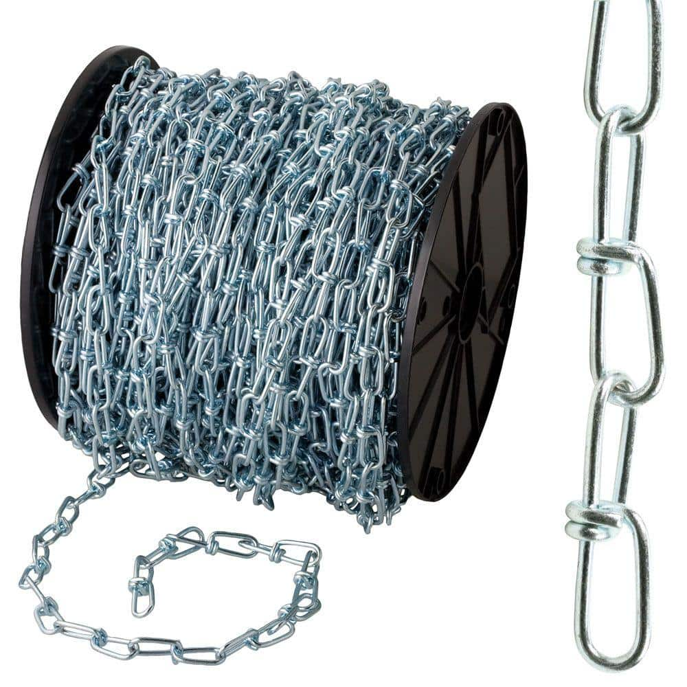 Everbilt 1 X 200 Ft Zinc Plated Steel Double Loop Chain 806270 The Home Depot