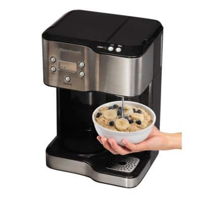 12-Cup Programmable Black Coffee Maker with Hot Water Dispenser