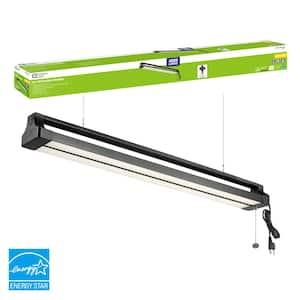 3.5 ft. 42-Watt Directional Integrated LED Black Shop Light