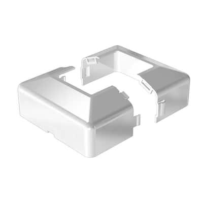 4 in. x 4 in. White Aluminum Post Base Cover