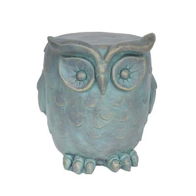Pratchett Stone Owl Garden Stool