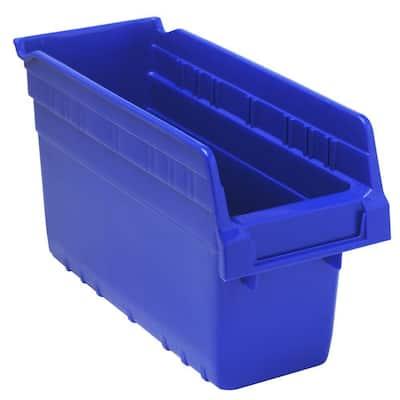 Store-Max 8 in. Shelf 1.8 Gal. Storage Tote in Blue (36-Pack)