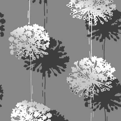 Hamsun Grey Dandelion Paper Strippable Wallpaper (Covers 56.4 sq. ft.)