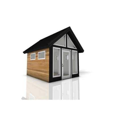 Installed Shed Rustica Series Refuge 10 ft. x 12 ft. Backyard Studio with Cedar Siding