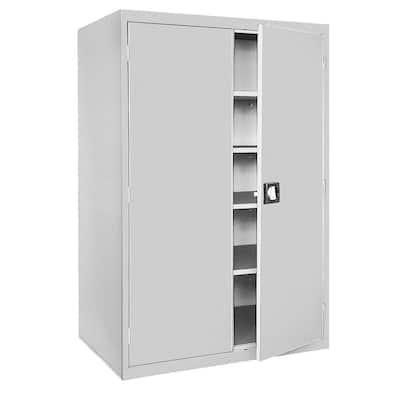 Elite Series Steel Freestanding Garage Cabinet in Dove Gray (46 in. W x 78 in. H x 24 in. D)