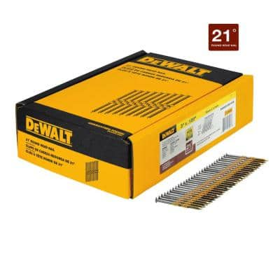 3 in. x 0.120 in. Ring Shank Galvanized Nails (2000-Pack)