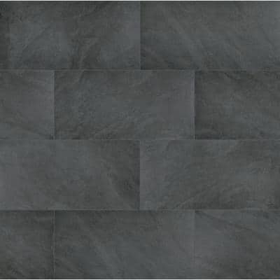 Midnight Montage 24 in. x 48 in. Matte Porcelain Paver (7-Pieces / 56 sq. ft./pallet)