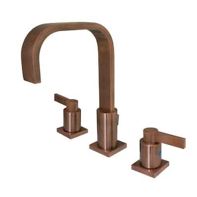 NuvoFusion 8 in. Widespread 2-Handle Bathroom Faucet in Antique Copper