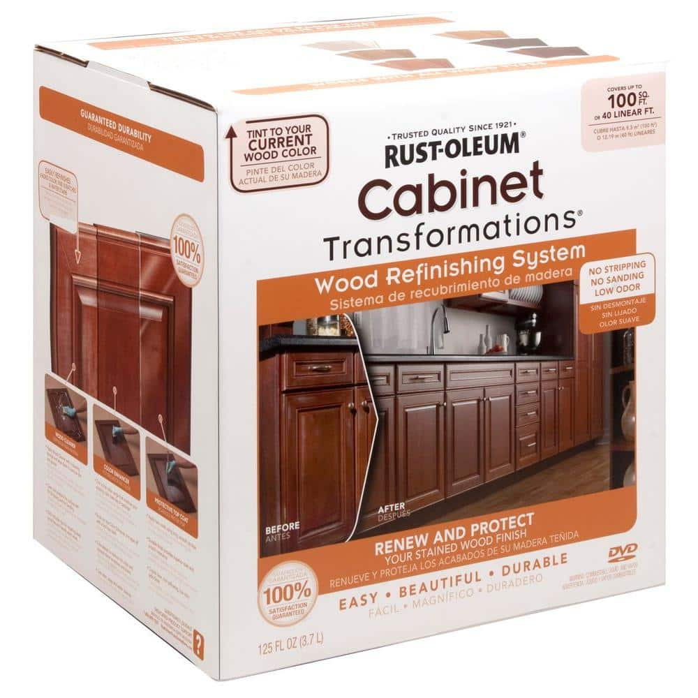 Rust Oleum Transformations Cabinet Wood Refinishing System Kit 262495 The Home Depot