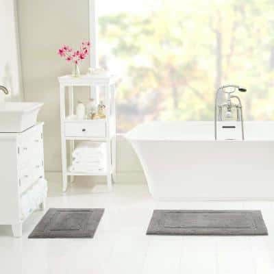 Peniston Solid Cotton 2-Piece Bath Rug Set