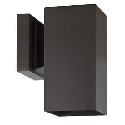 Architectural Exterior 1-Light Oil Bronze Outdoor Wall Sconce
