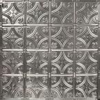 Pattern #3 24 in. x 24 in. Stainless Steel Tin Wall Tile Backsplash Kit (5 pack)