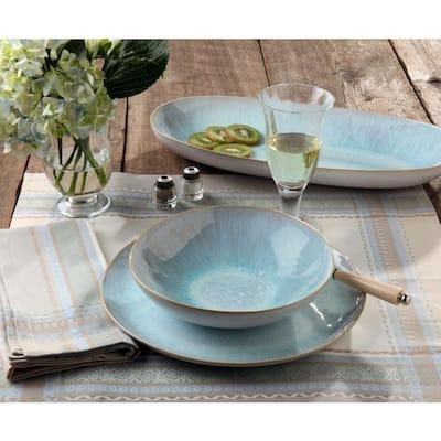 Ibiza 24 fl. oz. Sea Ceramic Stoneware Pasta Bowl (Set of 6)