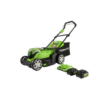 17 in. 48-Volt (2 x 24V) Battery Cordless Push Lawn Mower with 4.0 Ah Batteries and Dual Port Charger