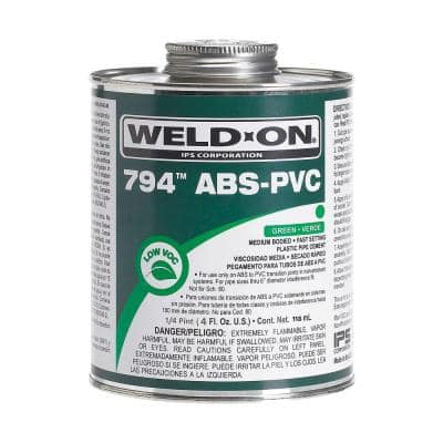 4 oz. ABS PVC 794 Transition Cement in Green