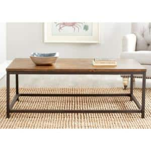 Alec 48 in. Brown Large Rectangle Wood Coffee Table