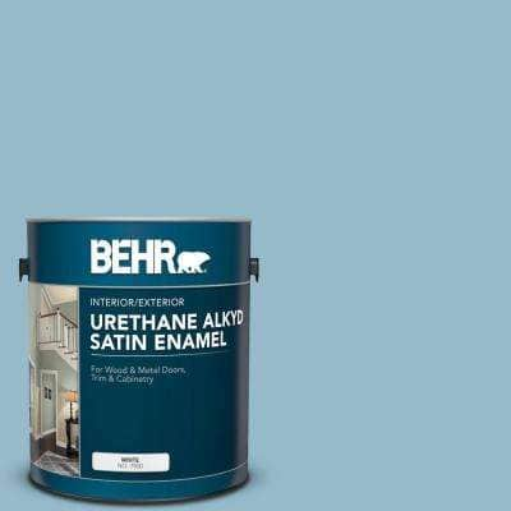 1 gal. #S480-3 Sydney Harbour Urethane Alkyd Satin Enamel Interior/Exterior Paint