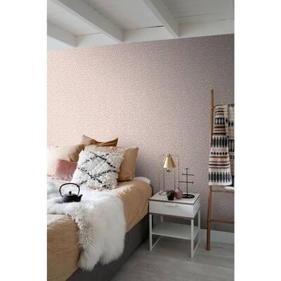 Cicely Pink Leopard Skin Wallpaper Sample