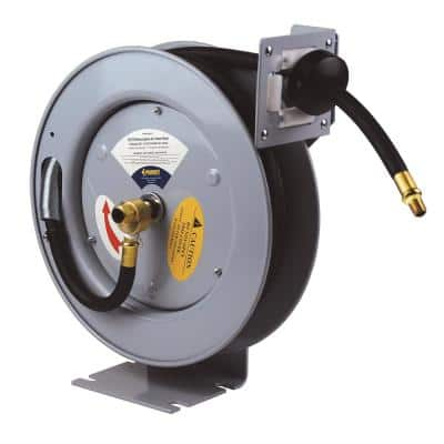 25 ft. Industrial Grade Retractable Air Hose Reel with Rubber Air Hose
