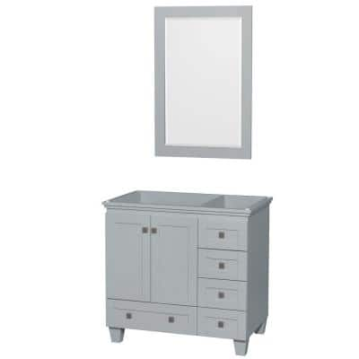 Acclaim 36 in. Vanity Cabinet with Mirror in Oyster Gray