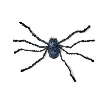 32 in. Black Spider Halloween Prop(Set of 2)