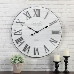 27 in. Emmett Shiplap Clock