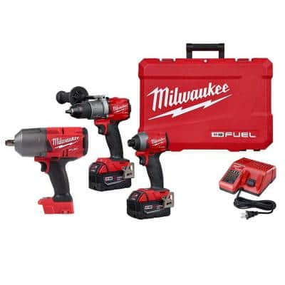 M18 FUEL 18-Volt Lithium-Ion Brushless Cordless Hammer Drill and Impact Driver Combo Kit (2-Tool) with Impact Wrench