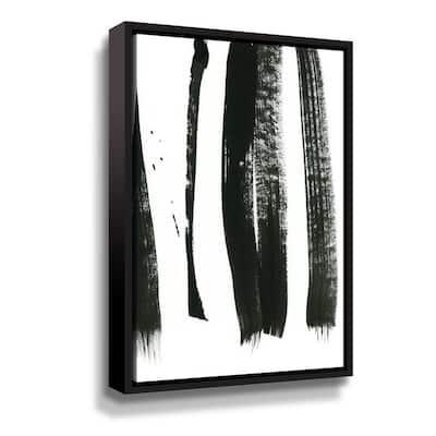 'Black on white 3' by Iris Lehnhardt Framed Canvas Wall Art