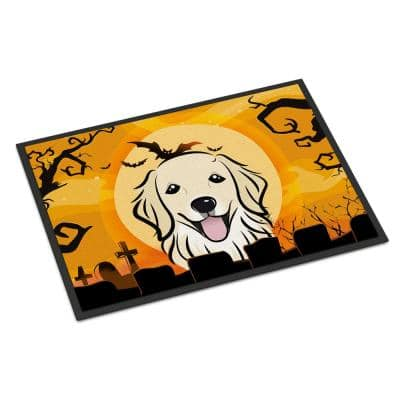 18 in. x 27 in. Indoor/Outdoor Halloween Golden Retriever Door Mat