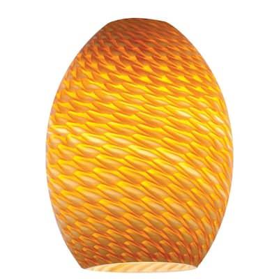 Firebird 6 in. Amber Glass Shade
