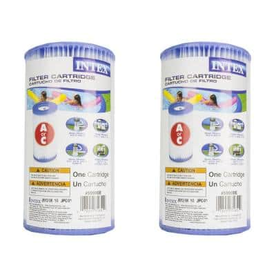 12 sq. ft. 530-1500 GPH Type A Replacement Filter Pump Cartridge (2-Pack)