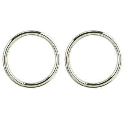 1/4 in. x 2.39 in. Nickel-Plated Ring (2-Pack)