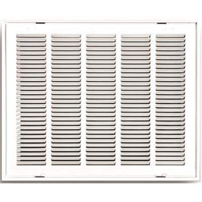 20 in. x 20 in. White Stamped Hinged Return Air Filter Grille