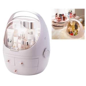 CozyBlock Large Modern Makeup Container Cosmetic Display Showcase Box Dustproof Makeup Organizer Portable Storage Drawer