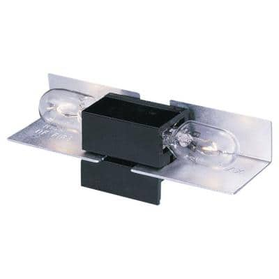 2.5 in. W. Black Lx Wedge Base Lampholder