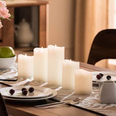 Grandiose Ivory LED Flameless Candles (Set of 5)