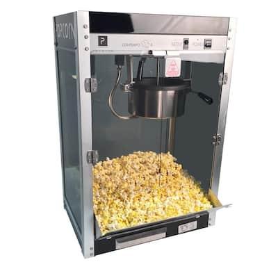 Contempo Pop 8 oz. Black Stainless Steel Countertop Popcorn Machine