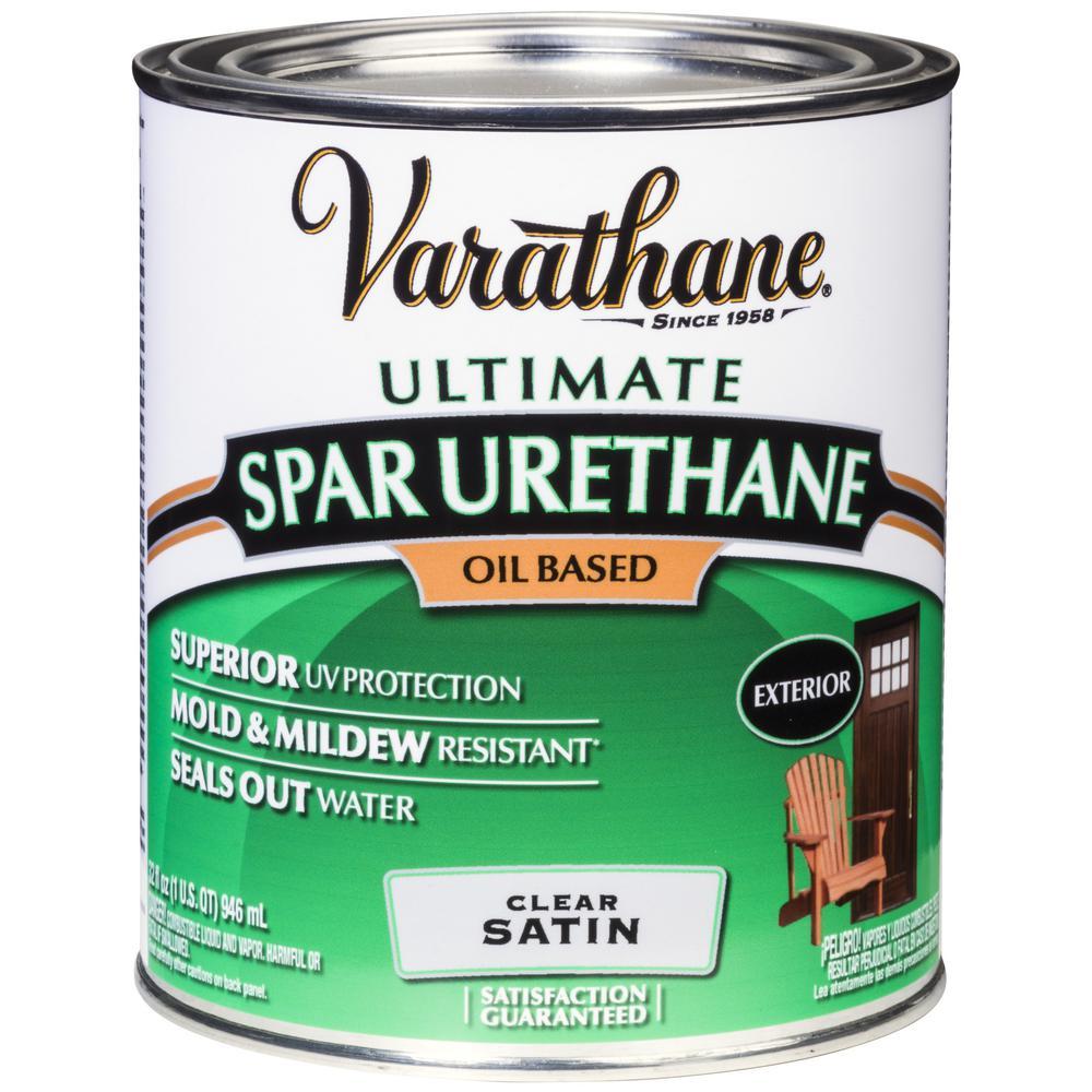 1 qt. Clear Satin Oil-Based Exterior Spar Urethane