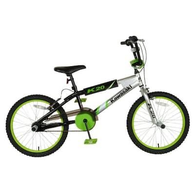 BMX Kid's Bike, 20 in. Wheels, 11.25 in. Frame, Boy's Bike in Silver/Black