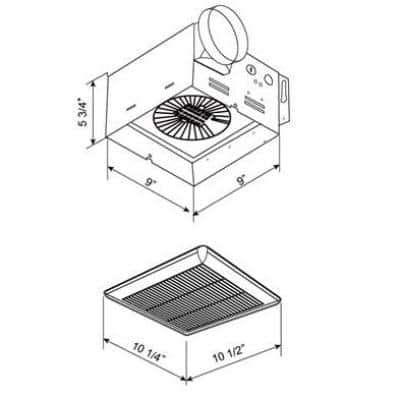 Slim Fit 80 CFM Ceiling 1.5 Sones Bathroom Exhaust Fan, White Finish, ENERGY STAR