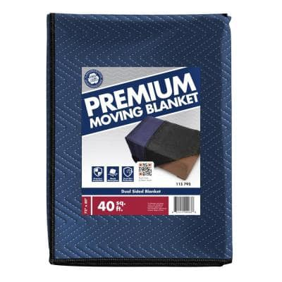 80 in. L x 72 in. W Premium Moving Blanket 8 Pack