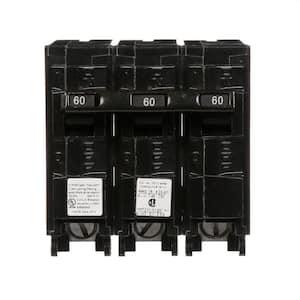 60 Amp Three-Pole Type QPH 22kA Circuit Breaker