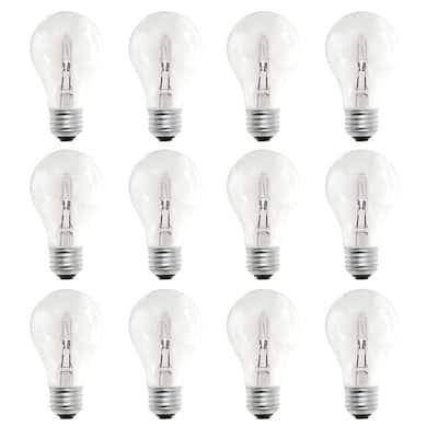53-Watt A19 Dimmable Soft White Light Halogen Light Bulb (12-Pack)