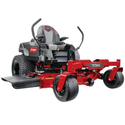 TITAN 54 in. IronForged Deck 21.5 HP Commercial V-Twin Gas Dual Hydrostatic Zero Turn Riding Mower CARB
