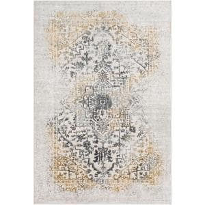 Marquis Yellow 6 ft. 7 in. x 9 ft. 6 in. Medallion Area Rug