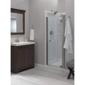 Classic 400 32 in. W x 74 in. H Three Piece Direct to Stud Alcove Shower Wall Surround in High Gloss White
