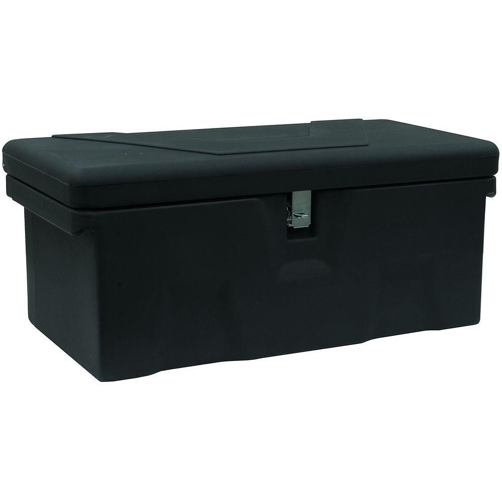13.5 in. x 15 in. x 32 in. Matte Black Plastic All-Purpose Truck Tool Box Chest